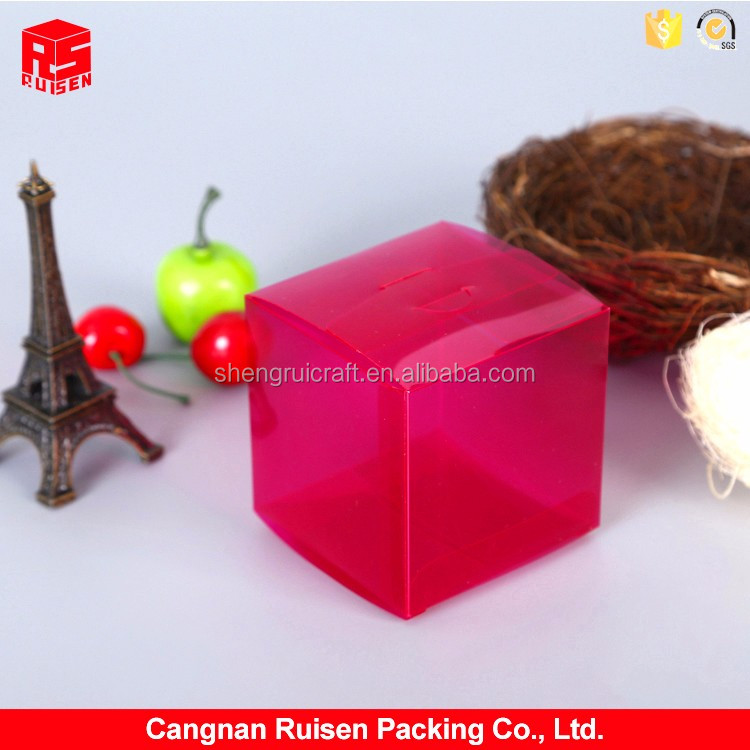 New products excellent quality red transparent small PVC gift box