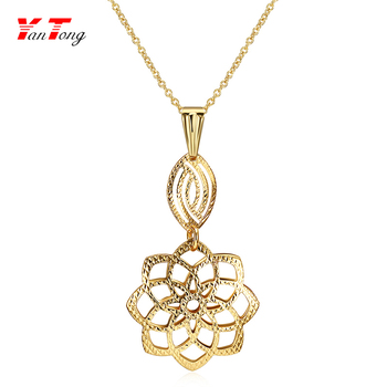 Shopping Cheap Flower Necklace Hawaiian With Long Thin Gold Chain