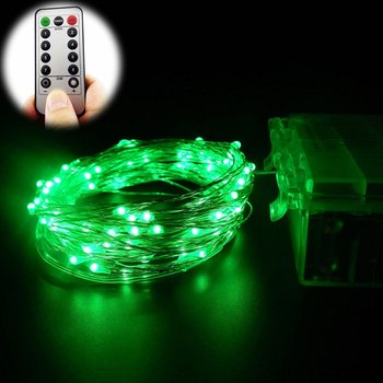 Battery Operated String Lights With Remote Control 10m 100 Led Silver Wire Micro Starry