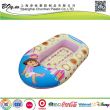 EN71 factory hot sale customized cartoon printing durable children air pvc inflatable boat for sale