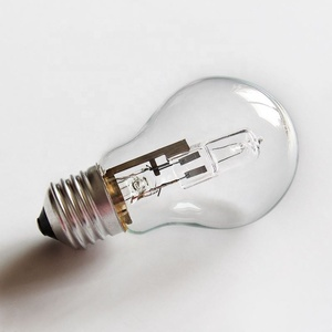 A60 28W glass frosted halogen energy efficient heat lamp lighting bulb