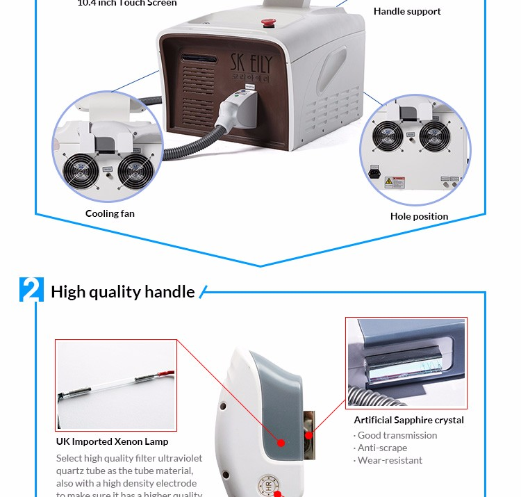 SK EILY Easy operating competitive portable ipl shr hair removal machine