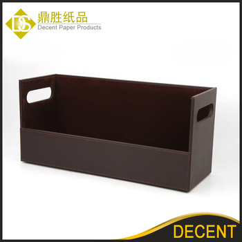 Mdf Based Pu Leather Large Cd Dvd Vcd Storage Display Case Rack Whole