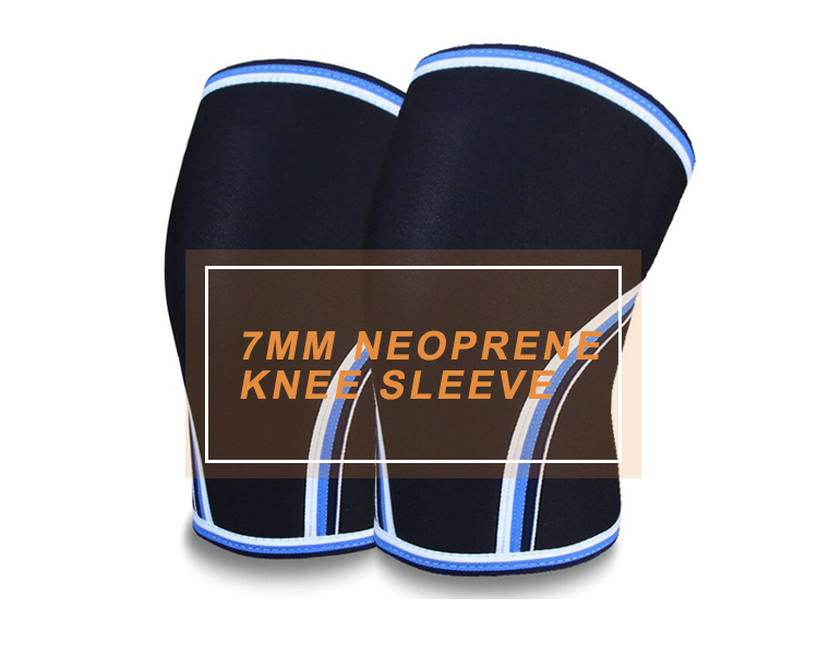 Reversible Neoprene 7mm Knee Support, Compression 7mm Knee Sleeve for Weight Lifting, Powerlifting