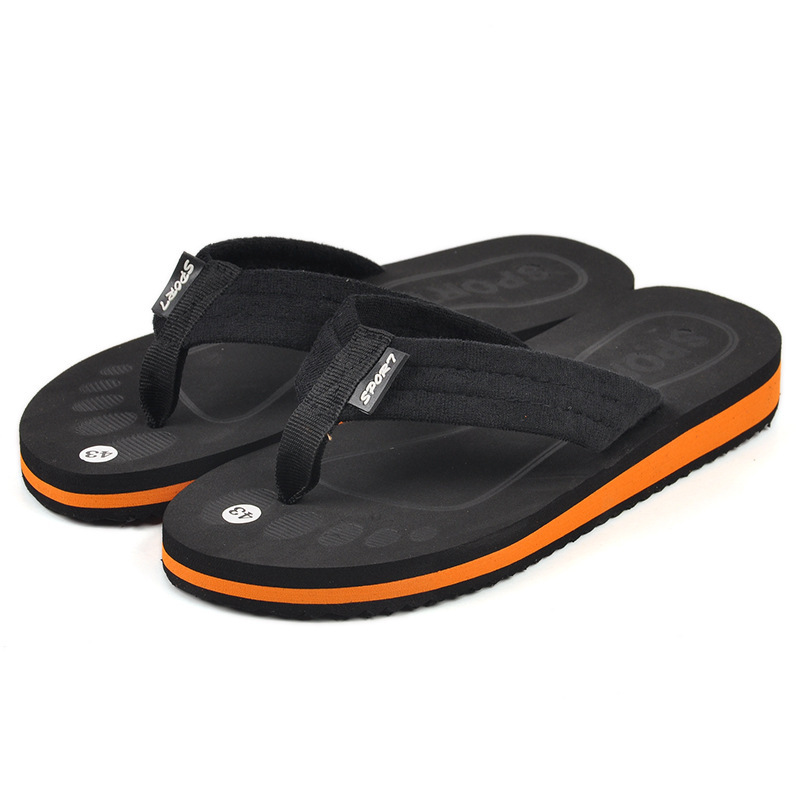 21e78035b61a Buy New fashion mens beach sandals flip flops brand summer style casual  flats soft slipper shoes sandalias for men wholesale 2015 in Cheap Price on  ...