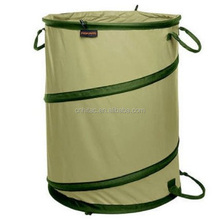 137L PE Pop-up Garden Sack Bag,Garden Waste Sack With 3 Handles