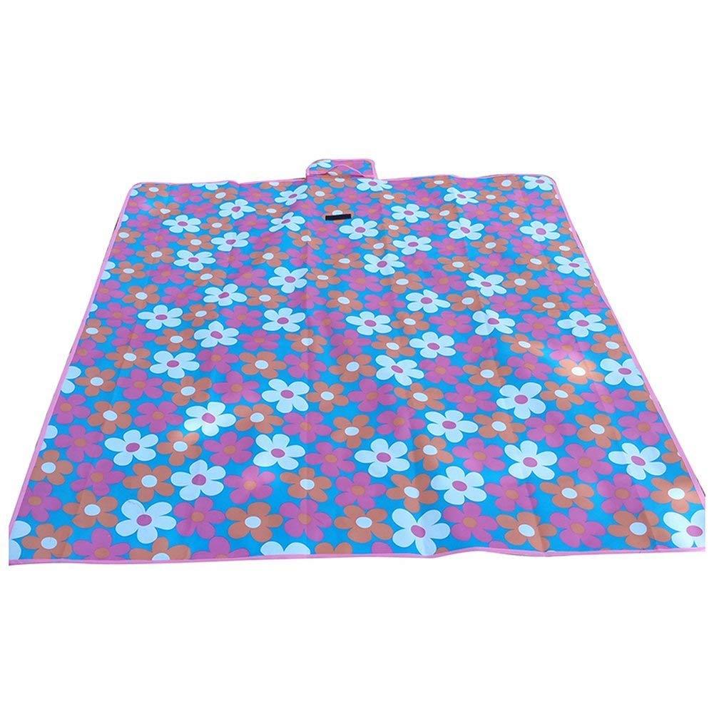 AOBRITON Waterproof Carpet Blanket, Outdoor Beach Camping Picnic Mat Tourist Mat, 150x80cm, Purple-Flower