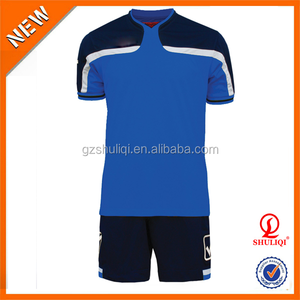 2016 customized blue soccer jersey,sublimation soccer jersey made in China H-1097