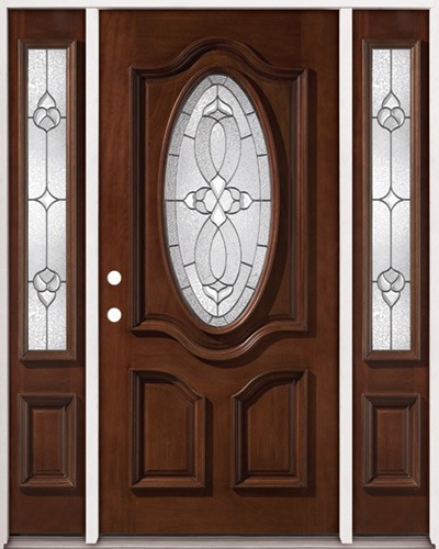 Aliso nudoso r stico prehung puerta de madera de caoba for Ver precios de puertas de madera