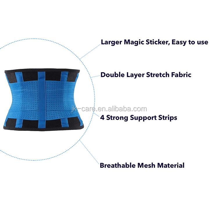 Sport elastici body wrap neoprene lombare lower back support brace