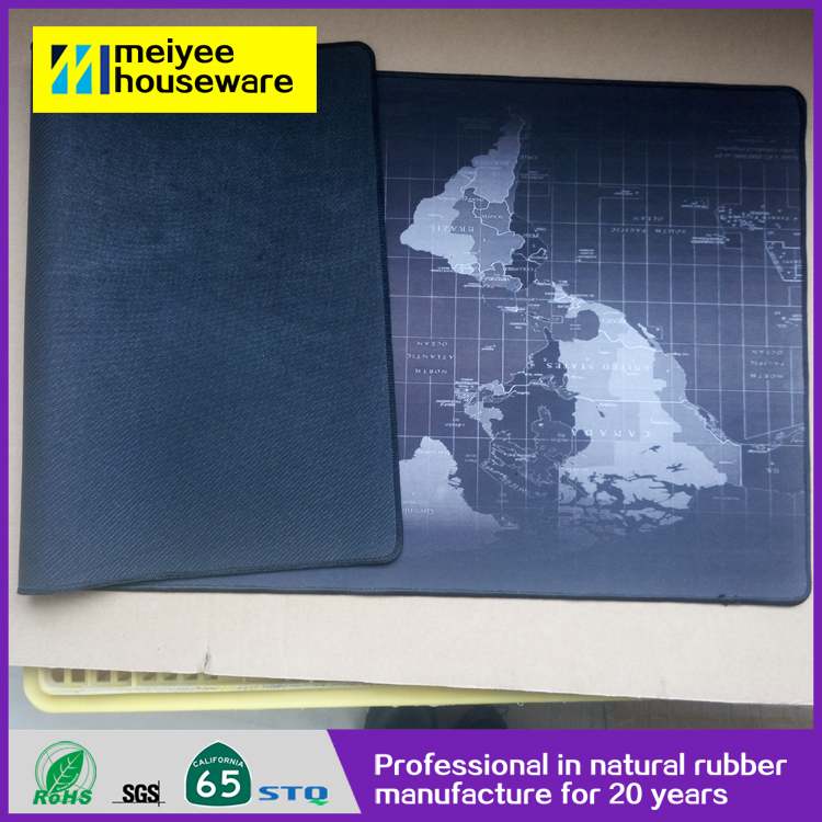 MP215 Promotional logo printed neoprene gaming mouse pad all of the world map design