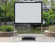 portable fast fold screen daylight outdoor projection screen with draps