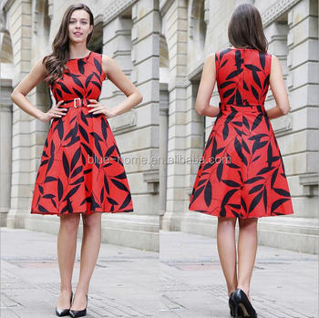 red colour combination dresses