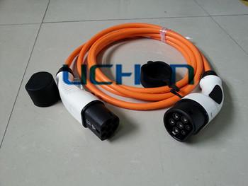 art 2 m nnlichen zu weiblichen ev anschluss typ 2 32 amp stecker und kabel buy product on. Black Bedroom Furniture Sets. Home Design Ideas