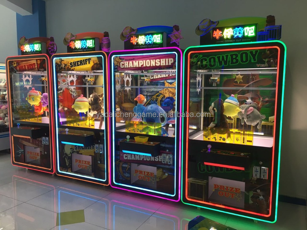 newest hot sale toy crane coin operated pusher arcade game /crane vending toy machine for sale/cow boy Game machine