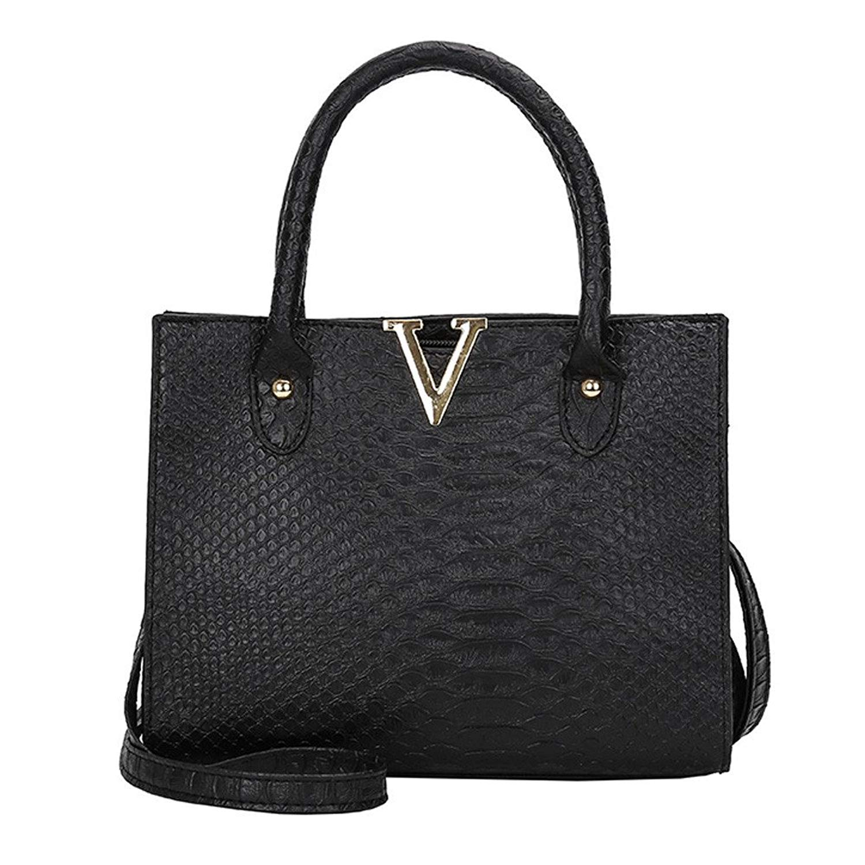 a25c6b8ef26 Get Quotations · COOKI Womens Purses and Handbags Ladies Alligator Pattern  Fashion PU Leather Simple Crossbody Handbags Designer Satchel