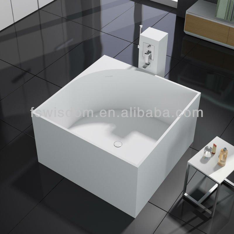 Italian Solid Surface Square Bath Tub Wd6549 - Buy Square Bath Tub ...
