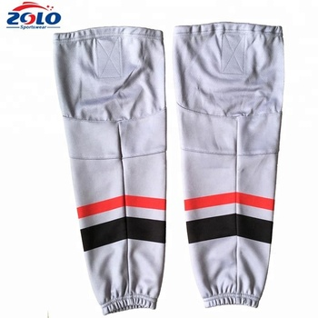 Factory cheap white blank hockey socks