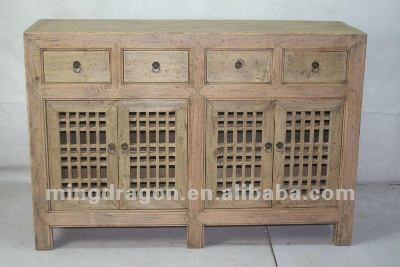 Chino Muebles Antiguos Shanxi Madera De Pino Cuatro Cajones Cuatro ...