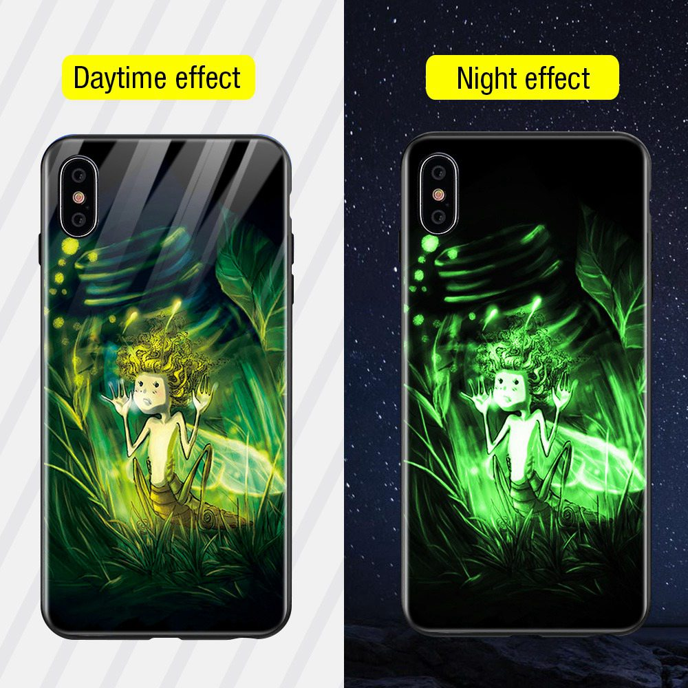 TOMKAS светящийся стеклянный чехол с животными для iPhone X XS MAX XS роскошный силиконовый чехол для телефона iPhone 7 8 Plus Чехлы для iPhone 6 S 6 S(Китай)
