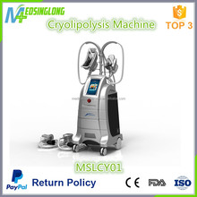 Best Cryolipolysis rf cavitation machine/4 handles cryolipolysis slimming machine MSLCY01