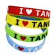 Hot Selling Wholesale Unisex Cheap Slap Ruler Printed Embossed Bracelet Cute Face Expressions Silicone Bracelets