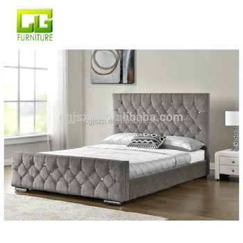 Diamond Upholstered Fabric Bed Frame Velvet Chenille Double King Size  Mattress Gas Lift Ottoman Bed   Buy Ottoman Folding Bed,Single Ottoman ...
