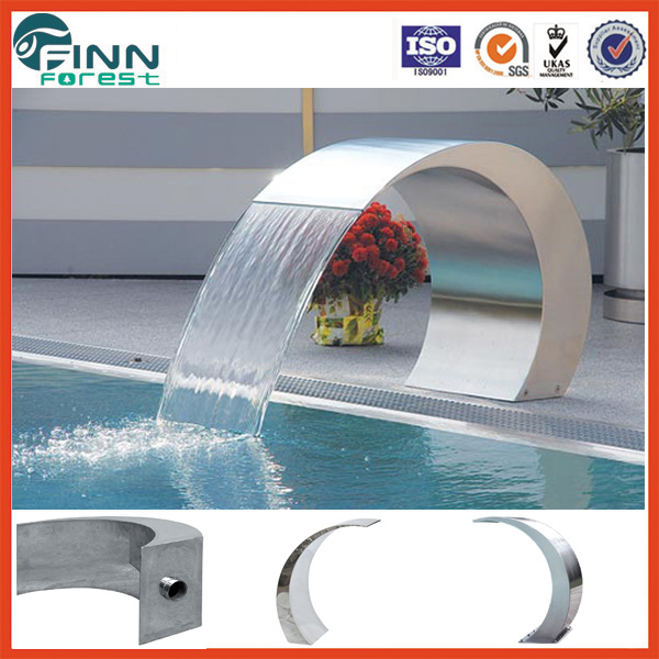 Outdoor and indoor swimming pool massage shower stainless steel 304 water curtain