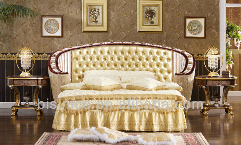 New Arrival Round Bed, Upholstered Headboard, Formal Italy Style Bedroom  Furniture Set, View 2014 bedroom set, Bisini Product Details from Zhaoqing  ...