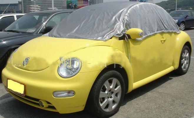 Silver Polyester Oxford Car Half Top Cover - Buy Car Half Cover 9cfb439527d5