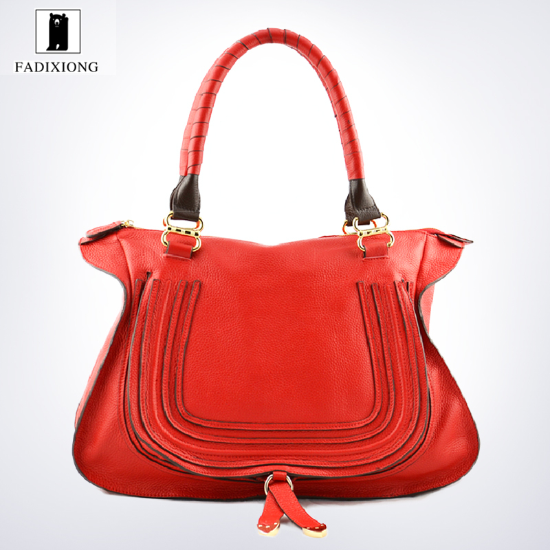 0aec82902a82 Get Quotations · 2015 New Red Famous Designers Brand Handbags Luxury Large Women  Bag Real Genuine Leather Fashion Party