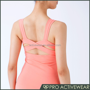 2017 Customized Hot sale Sportswear Factory Price Womens Blank Tank Top Gym Fitness Wholesale