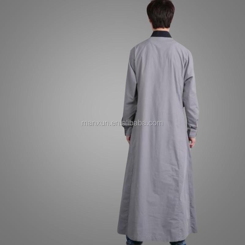 2016 Gentle Muslim Men Dress Islamic Clothing Arabic Men Abaya ...