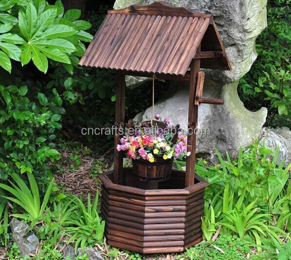 Garden Wishing Well Planters/patio Planters   Buy Garden Wishing Well,Decorative  Garden Wagon,Seashell Garden Decoration Product On Alibaba.com