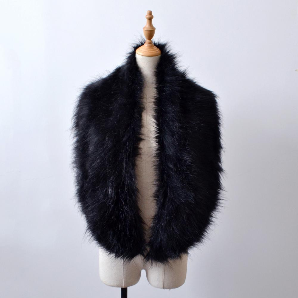 NJ1536 2017 winter wholesale women faux fur scarf