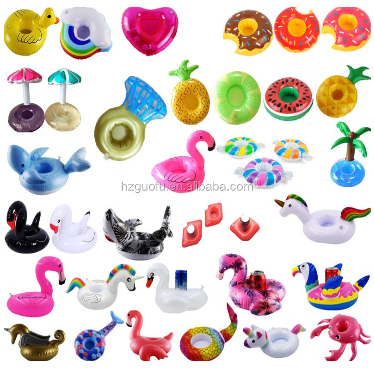OEM Inflatable Pink Flamingo Pool Beach Drink Or Cup Can Holder Float Sofa for Pool Bed