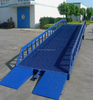 container loading and unloading hydraulic move yard ramp