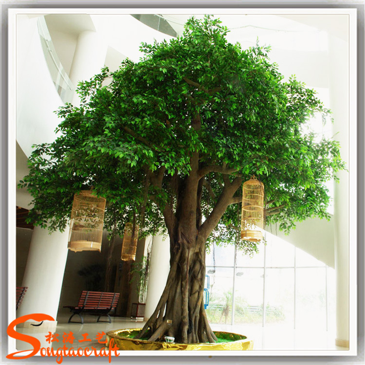 Large indoor cheap price artificial ficus tree artificial big ...
