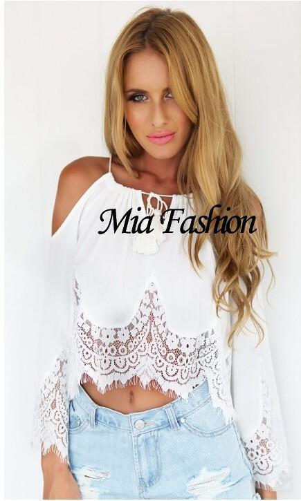 Fashion Mia Online Customer Reviews: Mia Fashion 2015 Woman Clothing Bohemian Lace Strapless