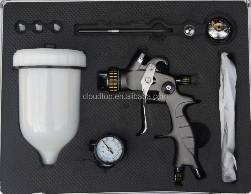 2015 high quality very new type terciopelo pintura en aerosol spray gun kit