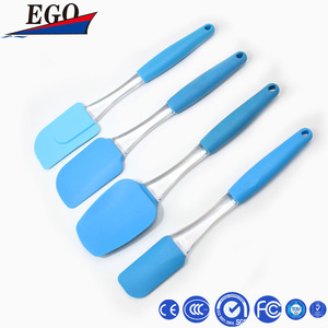 100% Food Grade Plastic Handle Small Colorful Butter Silicone Knife