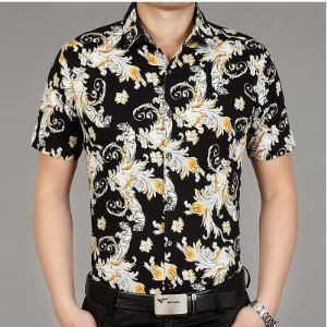 2015 fashion men printed shirt indonesian batik shirts
