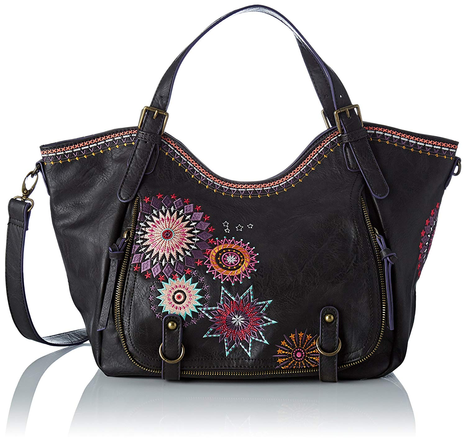 factory outlet large discount huge inventory Buy Desigual Womens Bols London Floreada 3001 U Messenger ...