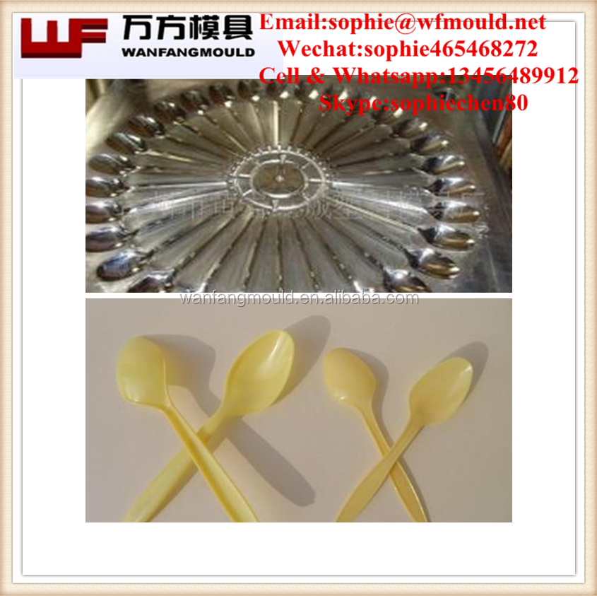 China mold manufacture supply Good Price 24 Cavities/36 Cavity Disposable product mould for cutlery plastic spoon/spoon mould