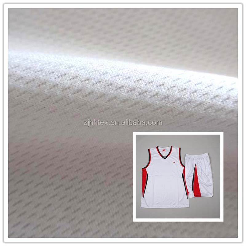 Dry fit 100 polyester soft bird eye mesh fabric, shirting fabrics from zhejiang textiles
