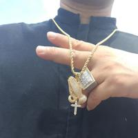 Praying hands 100 Dollars Allah symbol Pendant