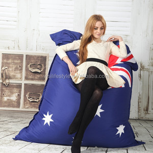 visi 135*175cm rectangle union jack USA/UK /AU/SWEDEN /BRAZIL/flag printing bean bag lounge