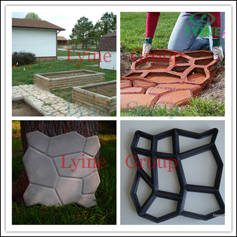 Concrete Plastic Pavement Mold Diy Garden Tools For Making A ...