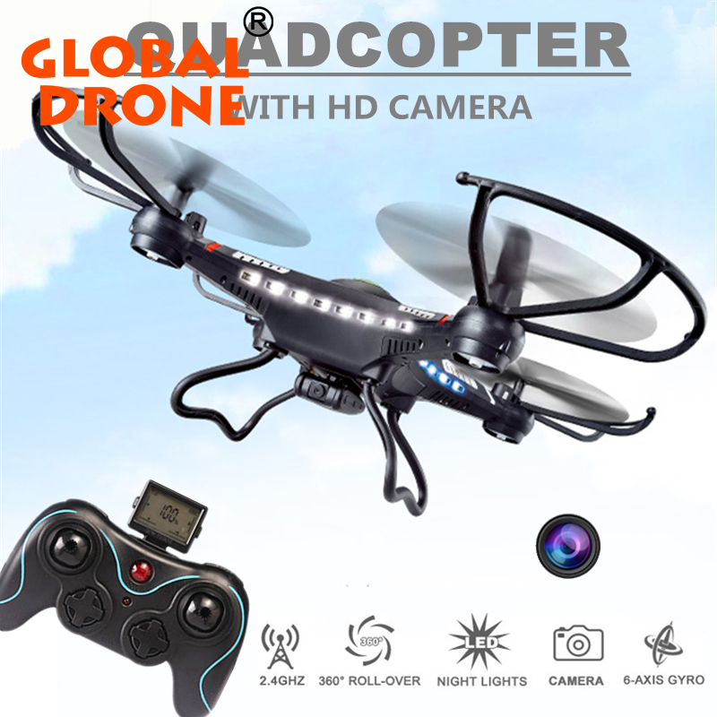 JJRC toys H8C Equipped with 2.0mp HD Camera RC Quadcopter Headless mode 360 roll 2.4G 4CH 6 Axis Drone RTF LED light Dron drones