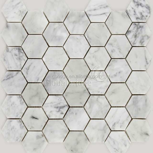 Bianco carrara mosaic stone natural marble stone mosaics for floor and wall